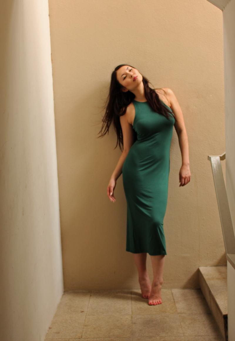 Gabriella Dress in Emerald, $45. Cotton Modal blend.