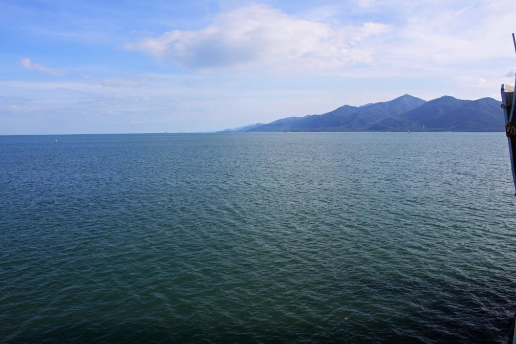The peaceful sea.